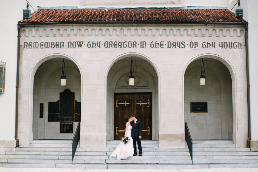 Charleston Wedding Elopement at The Citadel's Summerall Chapel by Whimsey Photography
