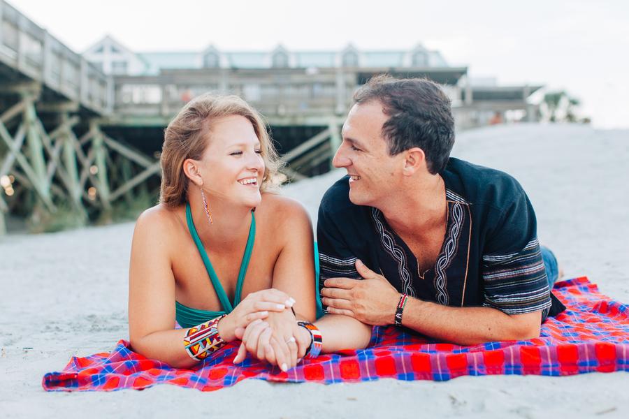 Folly Beach Wedding Engagement by Riverland Studios