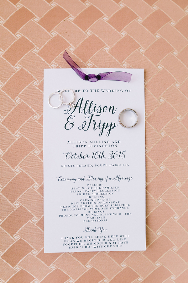 Cassina Point Plantation wedding invitations on Edisto Beach by Catherine Ann Photography
