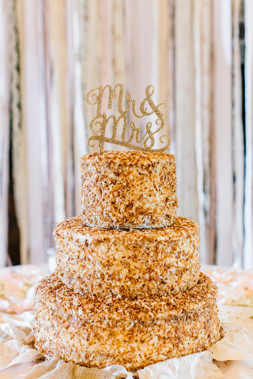 The Ultimate Coconut Cake from Peninsula Grill at Chris + Kiki's Pepper Plantation wedding