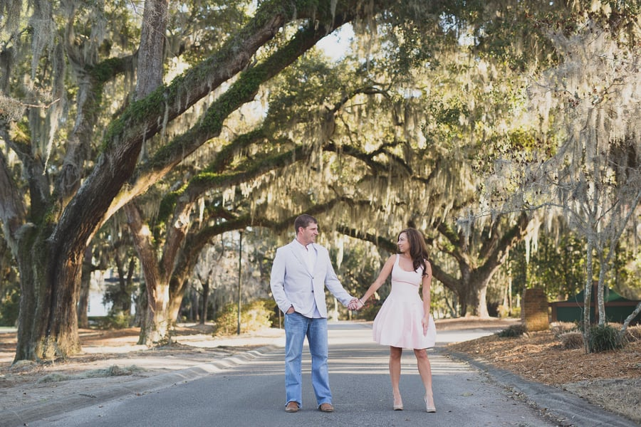 Myrtle Beach wedding engagement at Heritage Plantation