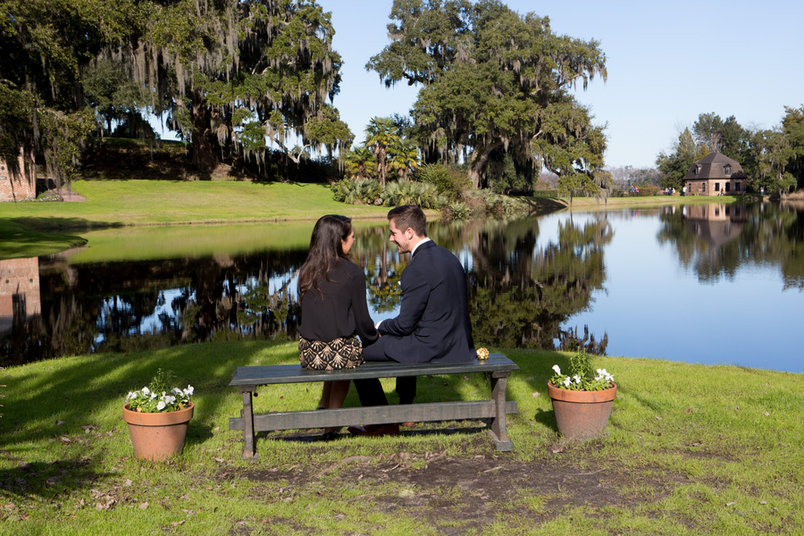 Middleton Place Proposal by Stacy Howell Photography