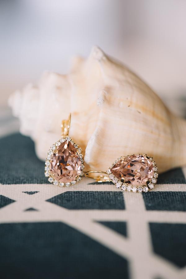 Charleston Wedding earrings at First Presbyterian Church + Wingate Plantation
