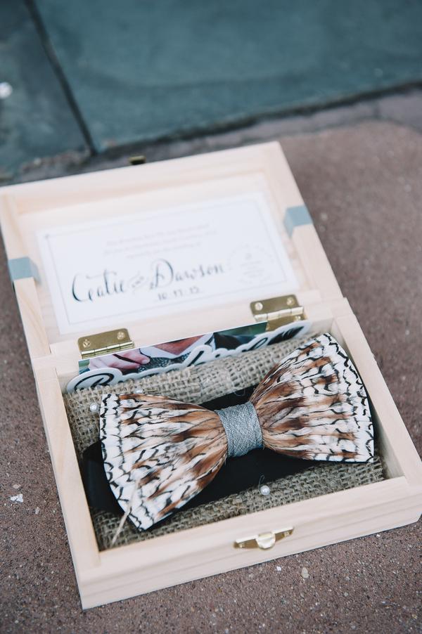 Brackish bow tie at charleston wedding
