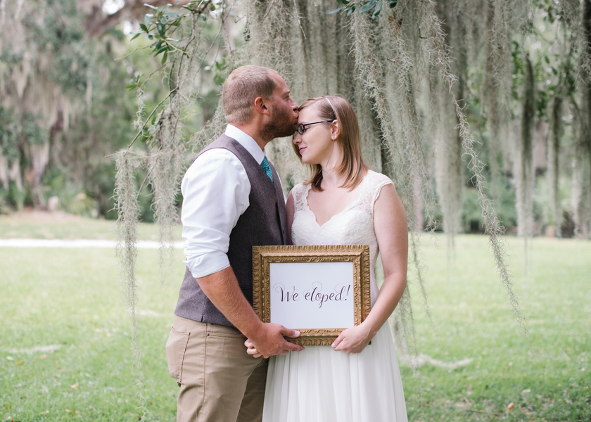 Colleton Point at Rose Hill Plantation wedding elopement