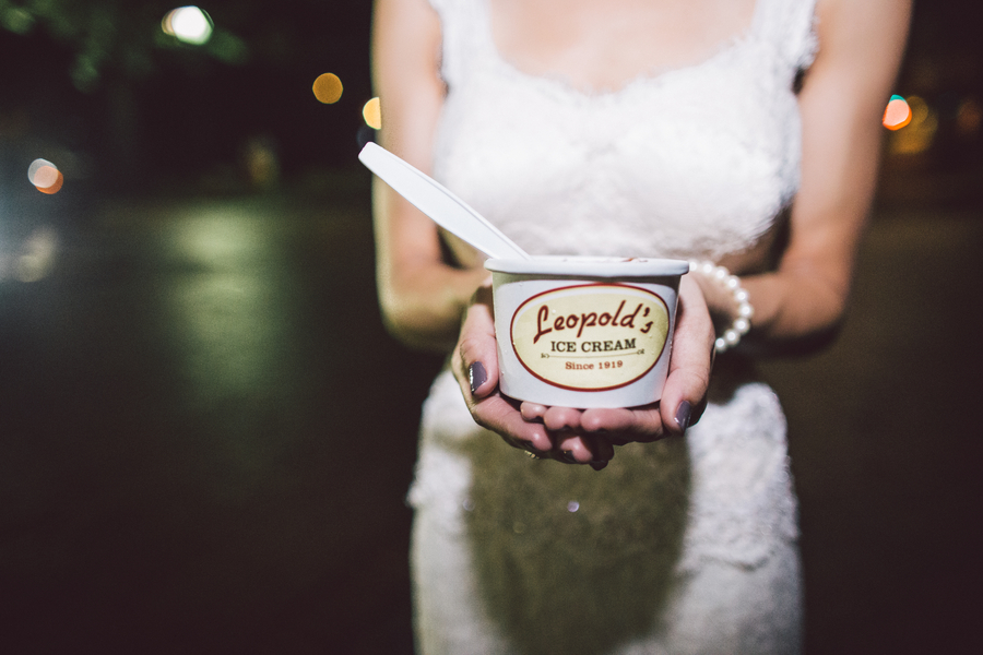 Leopold's Ice cream at Savannah wedding by Krista Turner Photography