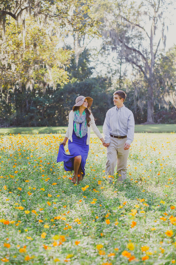 Casey + Eric's Boone Hall Plantation Engagement by Riverland Studios