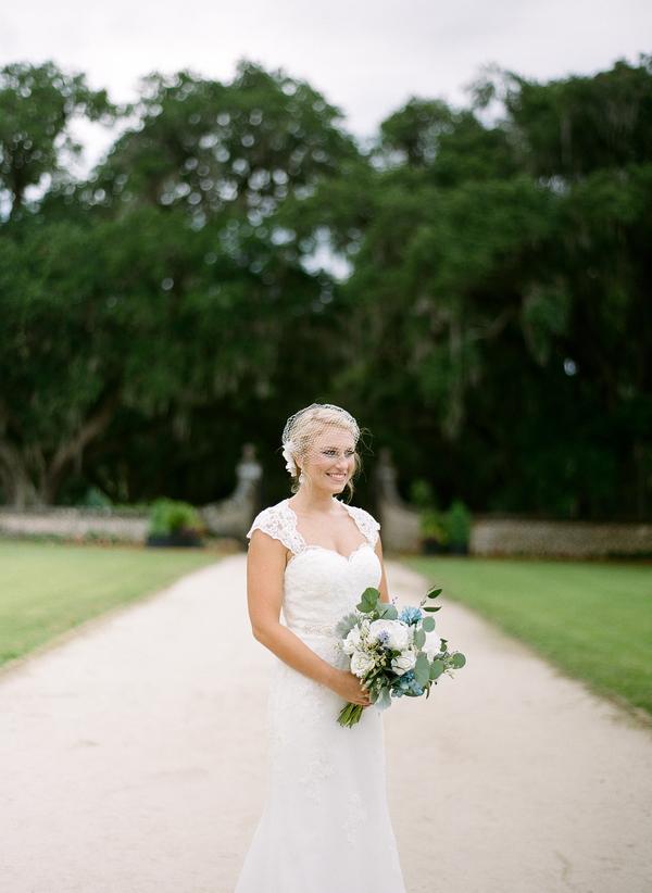Charleston Bridal Portraits at Boone Hall Plantation