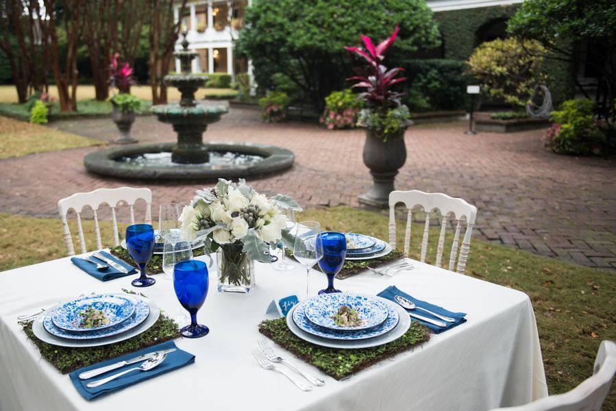 Blue Garden Party Wedding Inspiration at Thomas Bennett House in Charleston, SC