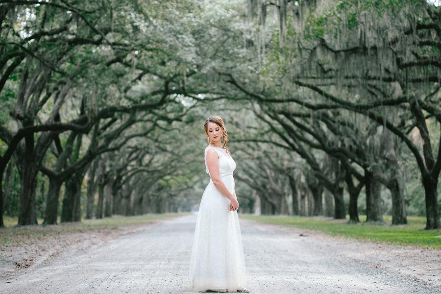Wormsloe Historic State Wedding Portraits in Savannah, Georgia