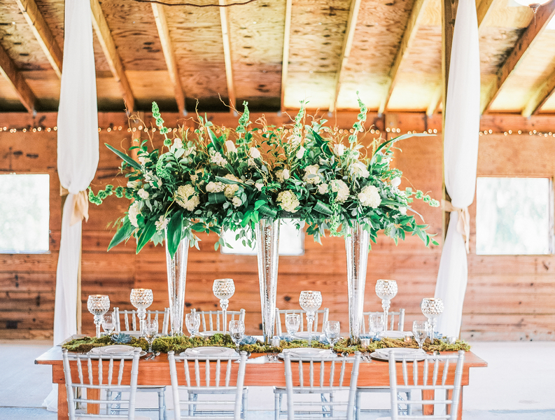 Lush centerpieces by Joann's Florist at Red Gate Farms Inspiration Shoot in Savannah, GA by Vitor Lindo Photo + Video.