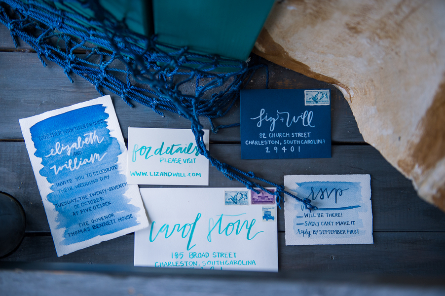 Ocean themed wedding inspiration at The South Carolina Aquarium by Charleston photography Molly Joseph Photography