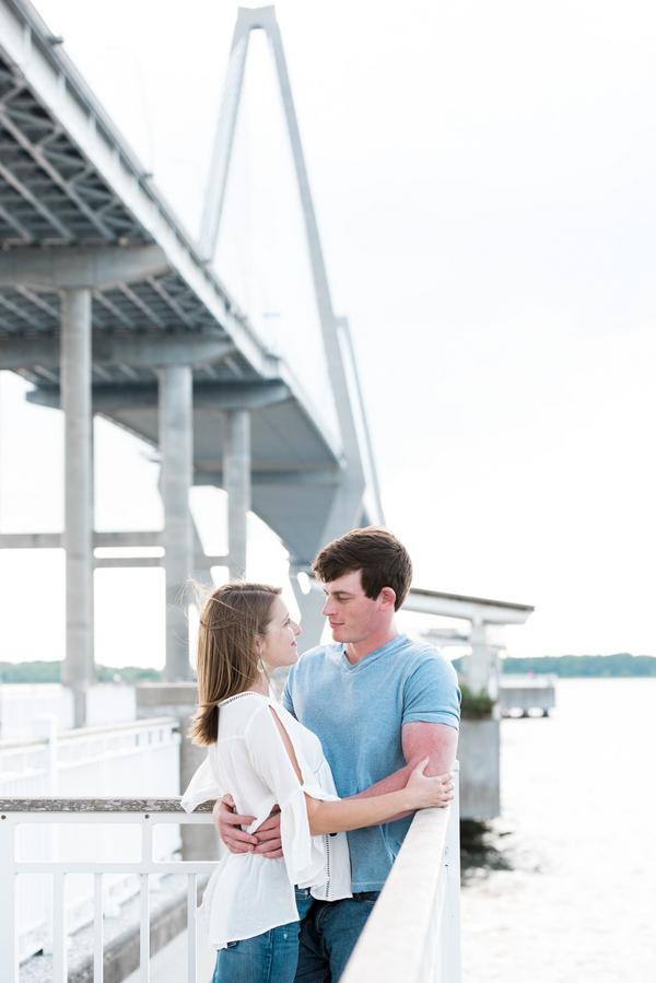 Charleston engagement session at the Ravenel Bridge by Rachel Craig Photography