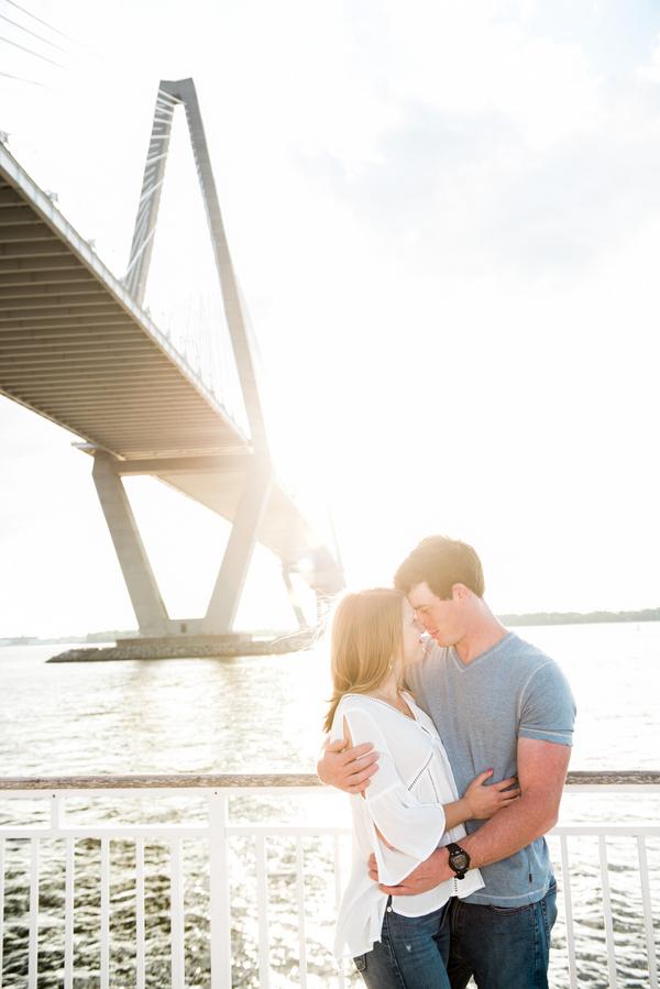 Charleston wedding engagement at The Ravenel Bridge by Rachel Craig Photography