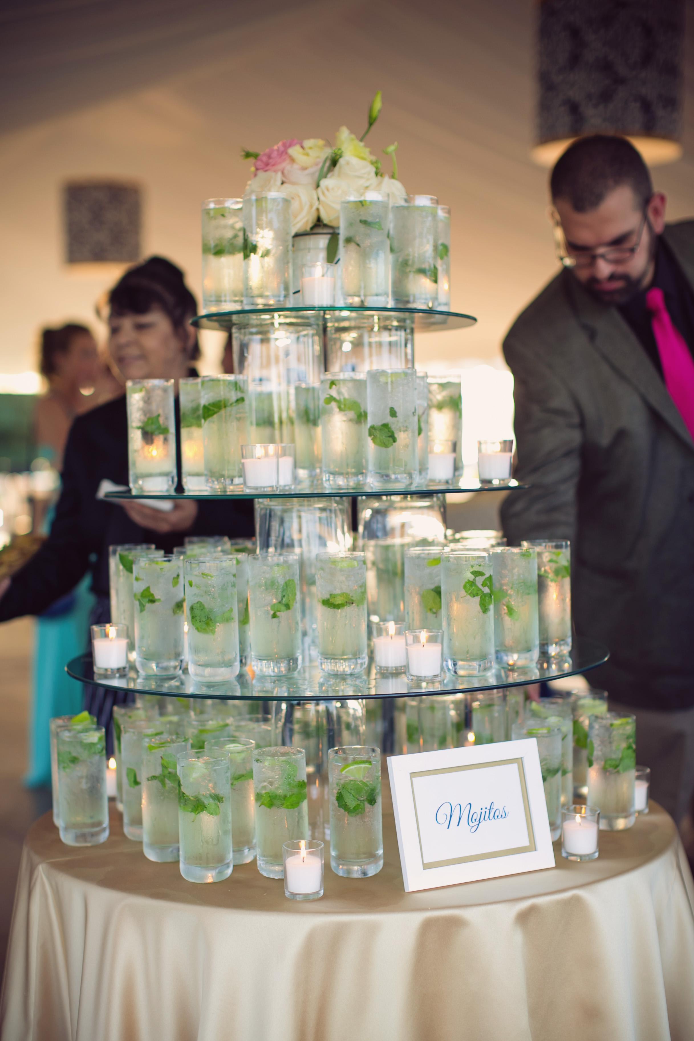 Mint mojitos at Charleston wedding by Mosaic Catering
