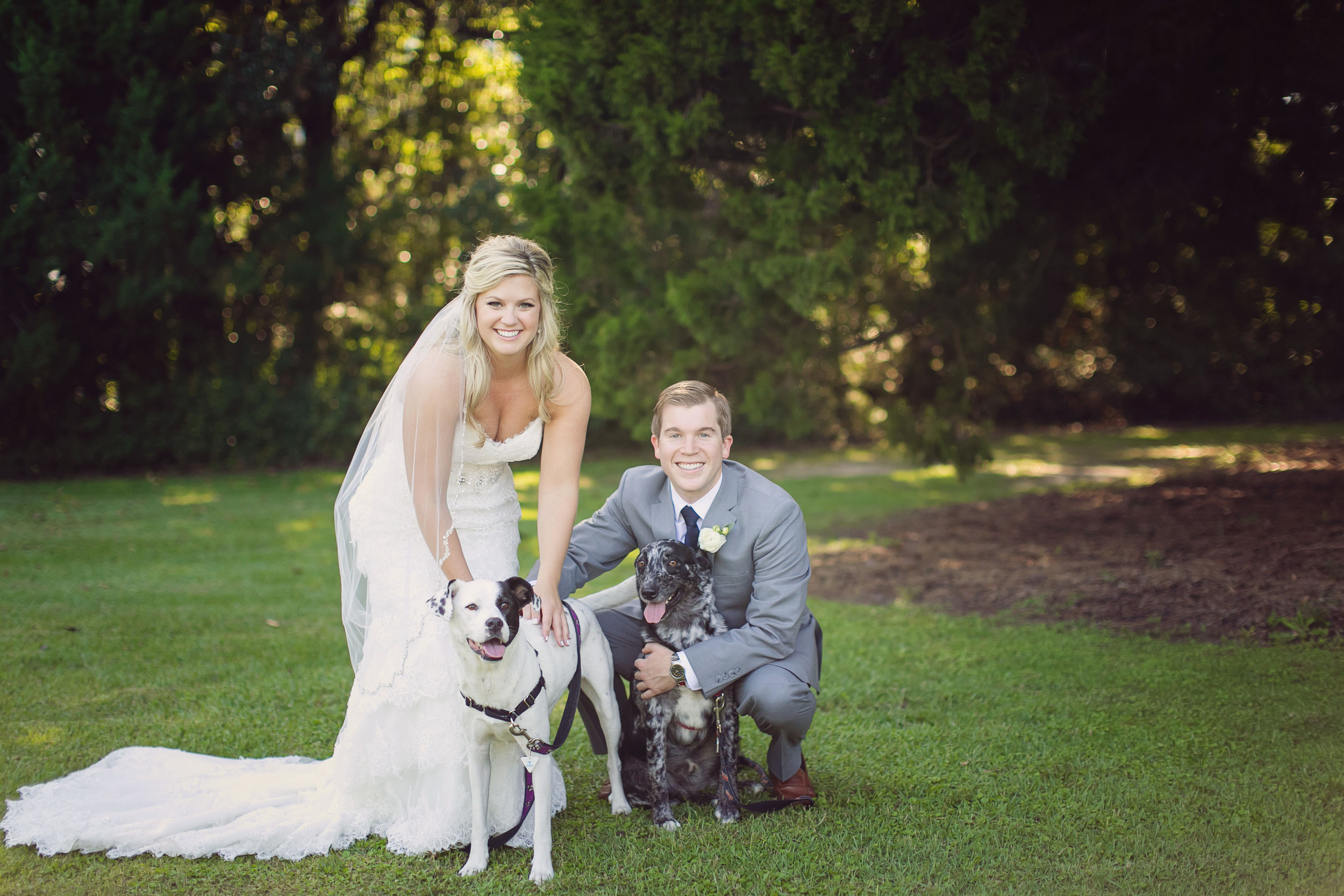 Hannah + Andy's Island House wedding with their dogs in  Charlesotn, SC by Rebecca Keeling Photography