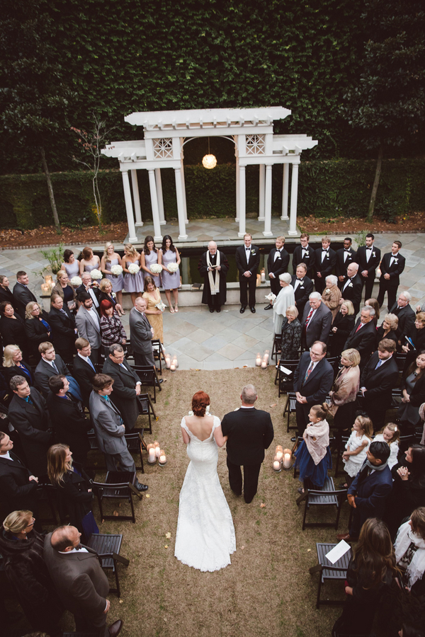 Lowcountry wedding ceremony in Charleston, SC at The William Aiken House