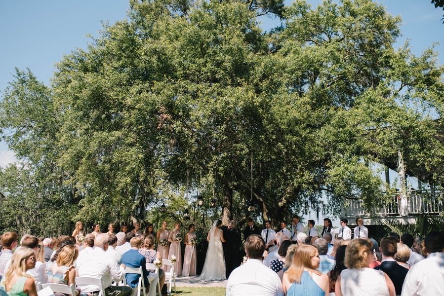 Outdoor ceremony at Creek Club at I'On wedding