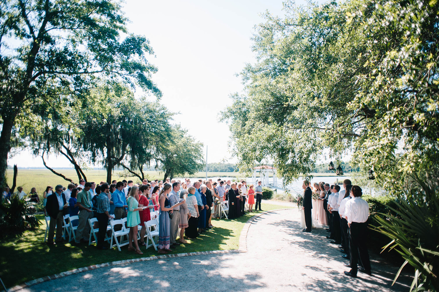 Lowcountry wedding ceremony at Creek Club at I'On