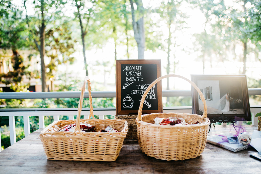 Charleston wedding favors at Lowcountry wedding