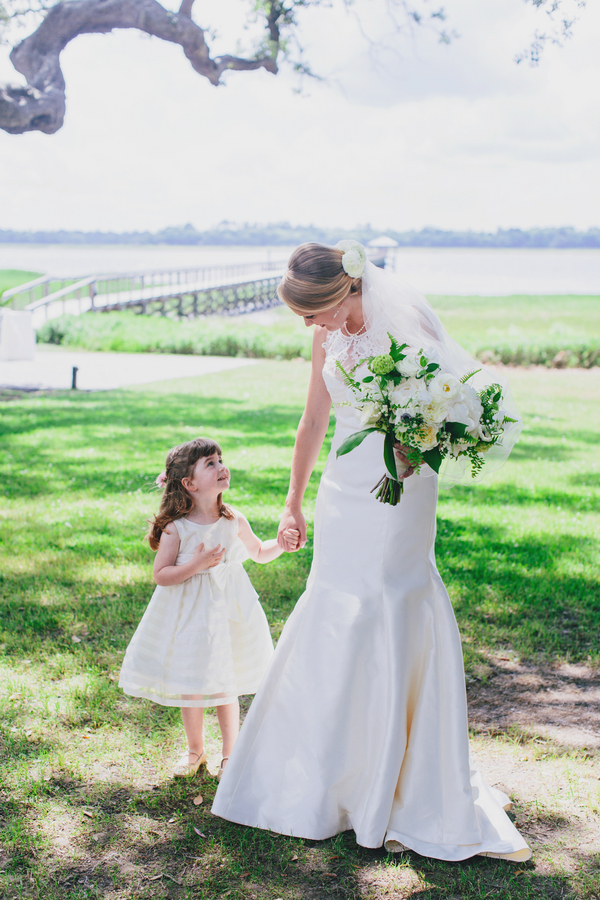 Flower girl at Charleston, South Carolina wedding