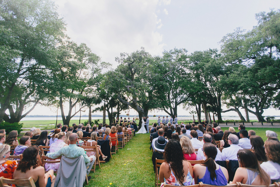 Outdoor Lowcountry wedding at Charleston's Lowndes Grove Plantation by Hyer Images