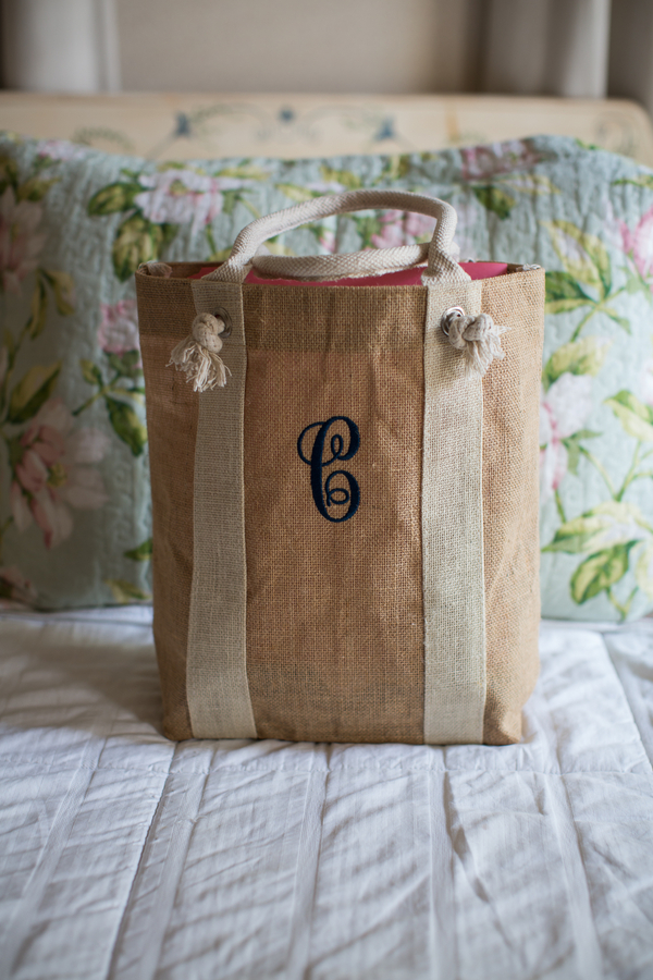 Beaufort wedding welcome bag by by Grace Hill Photography