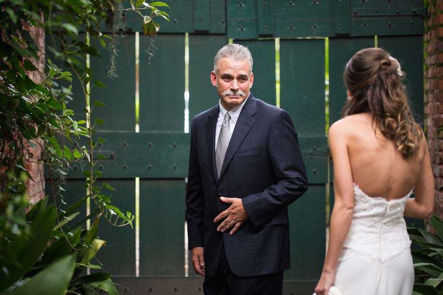 Father of the Bride first look by Grace Hill Photography
