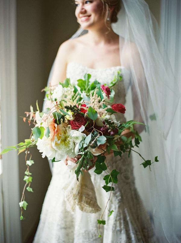Garden style bouquet by Confetti of Charleston