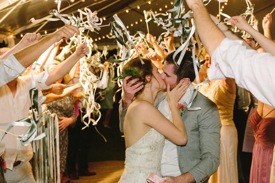 Charleston wedding departure with ribbon yarns