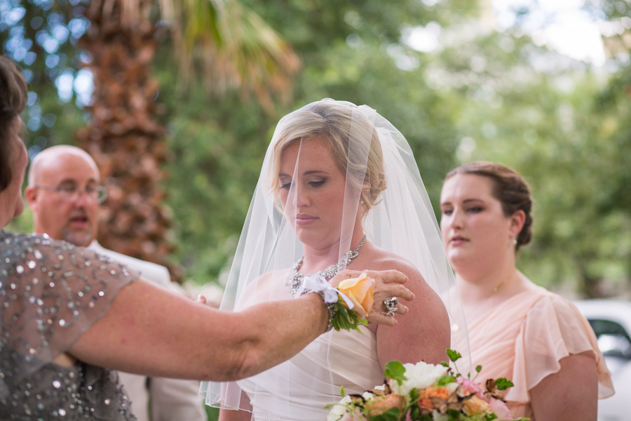 CHARLESTON WEDDINGS - Bride prepping for her outdoor Creek Club at I'On ceremony by Molly Josephy Photography