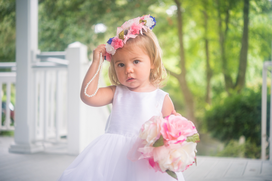 CHARLESTON WEDDINGS - Flower girl at Summer wedding by Molly Josephy Photography