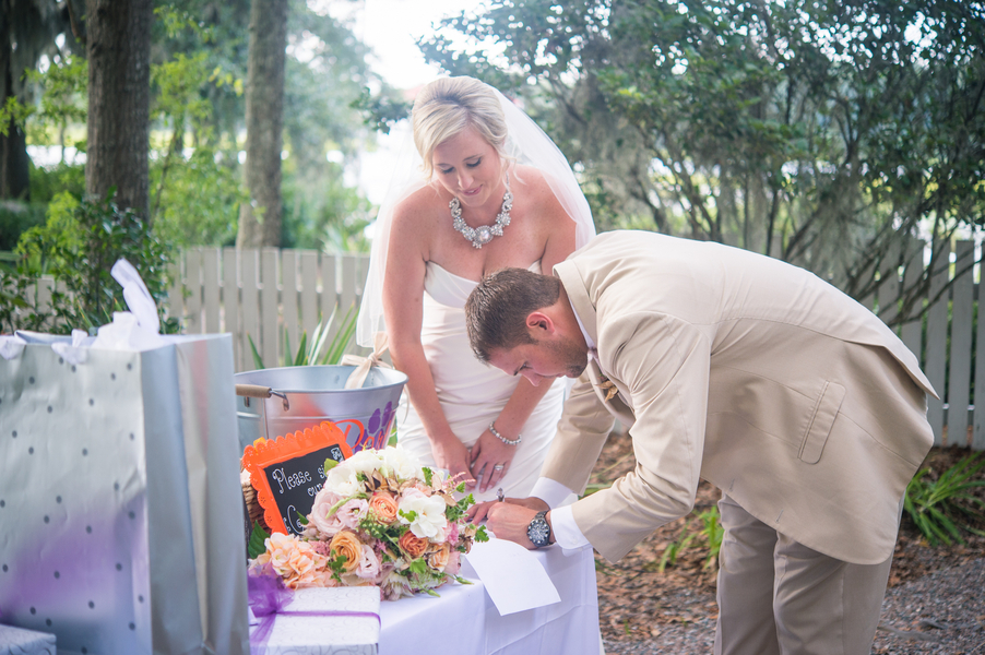 CHARLESTON WEDDINGS - Bride and Groom at Creek Club at I'On wedding in the Lowcountry by Molly Joseph Photography