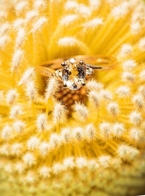 Wedding ring shot by Corina Silva Photography