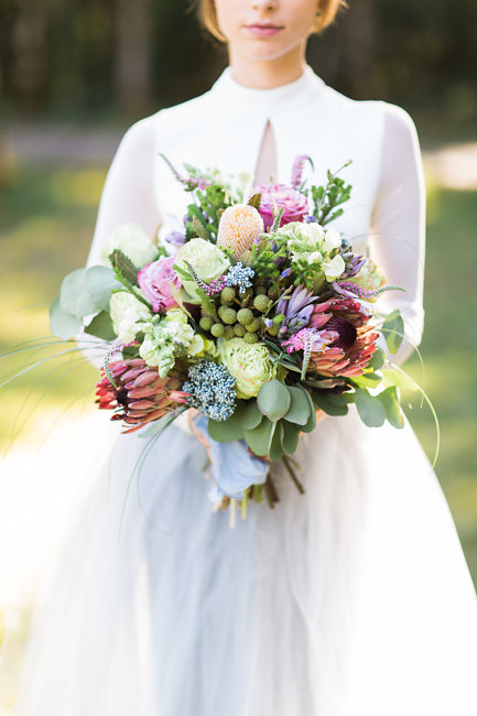Boho-inspired bouquet by Myrtle Beach photographer and designer Corina Silva