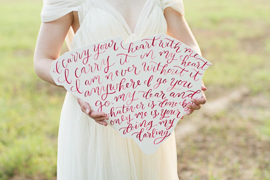 South Carolina wedding calligraphy by Leen Machine Calligraphy & Design