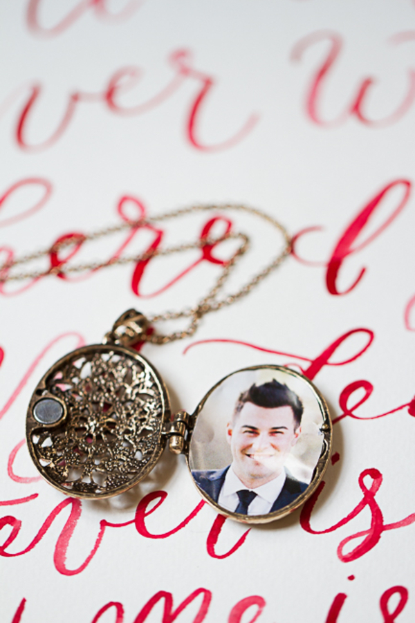 Wedding Locket by Lorin Marine Photography