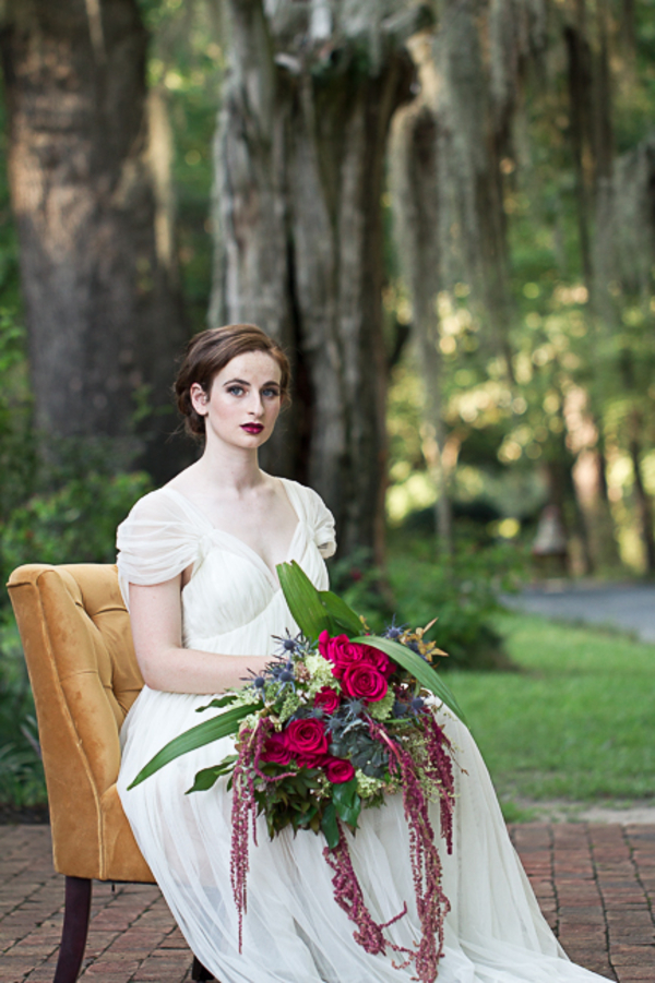 Dark pink rose bouquet by Tupelo Grove Events in South Carolina