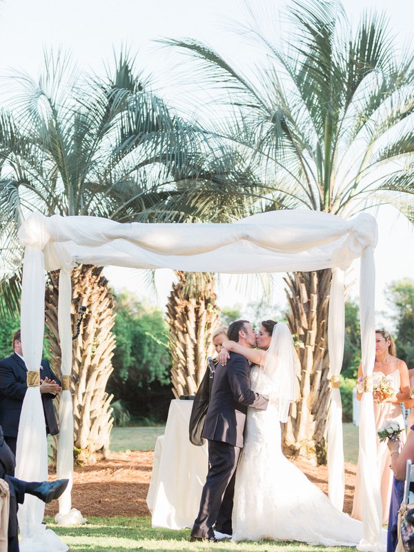 Wild Dunes Resort wedding ceremony in Charleston, SC by Loluma and amelia + dan photography