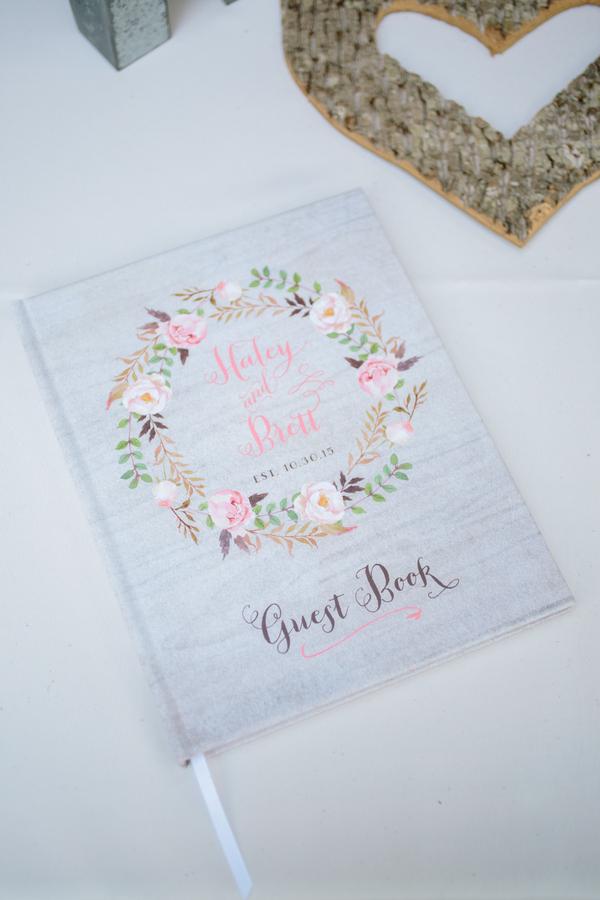 Charleston wedding guest book by Riverland Studios