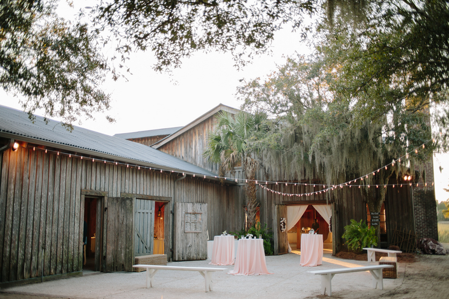 Boone Hall Plantation wedding at The Cotton dock by Riverland Studios