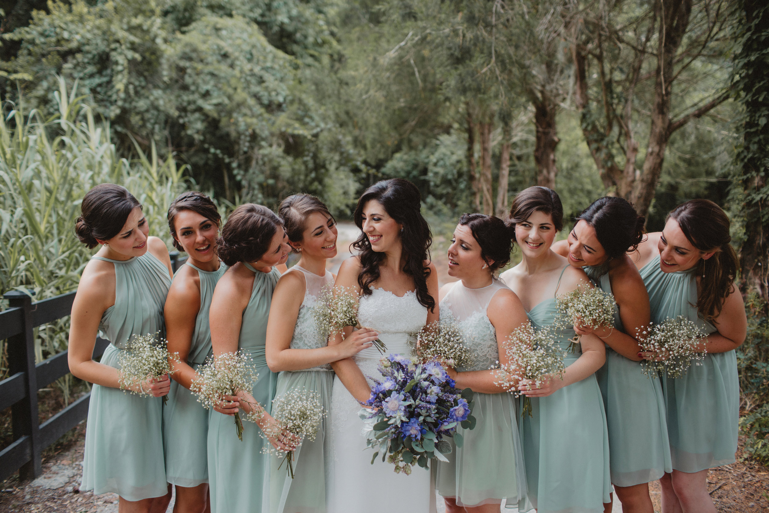 Bridesmaids at Magnolia Plantation