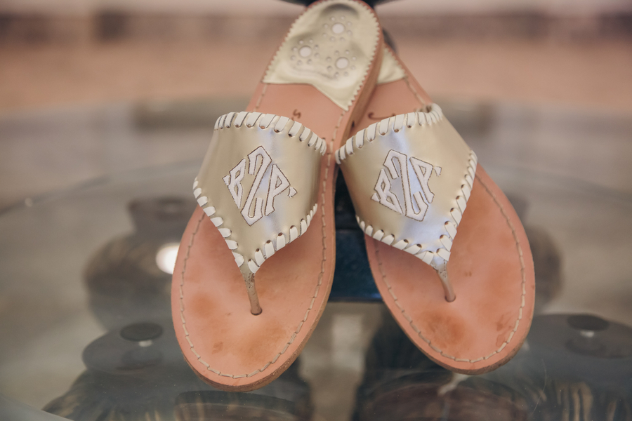 Jack Rogers Sandals at Charleston wedding by Richard Bell Photography