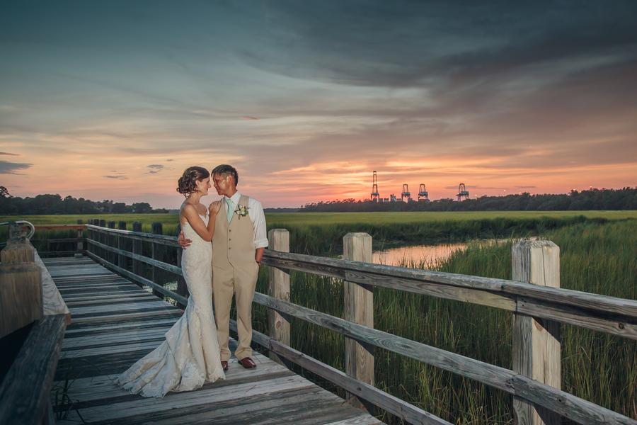 Charleston wedding portraits at Creek Club at I'On