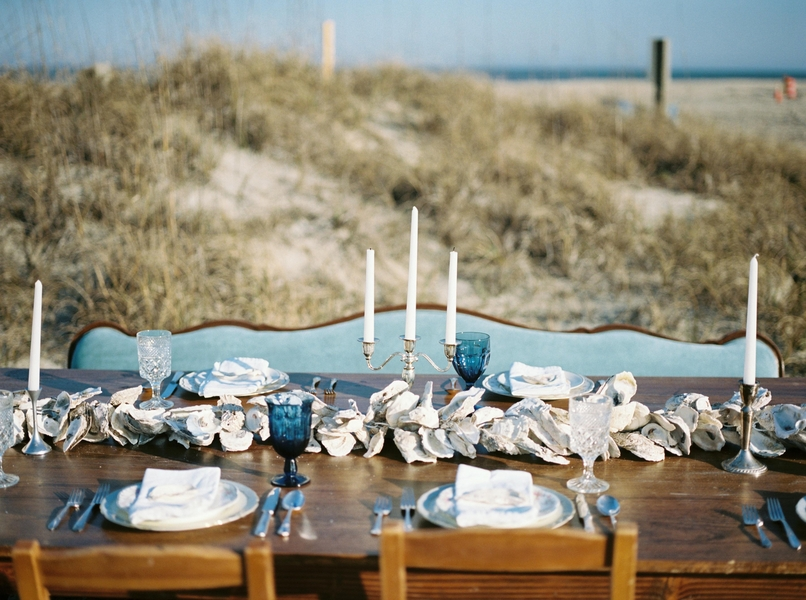 Beach wedding decor on Tybee Island by Savannah vendor JLeslie Design