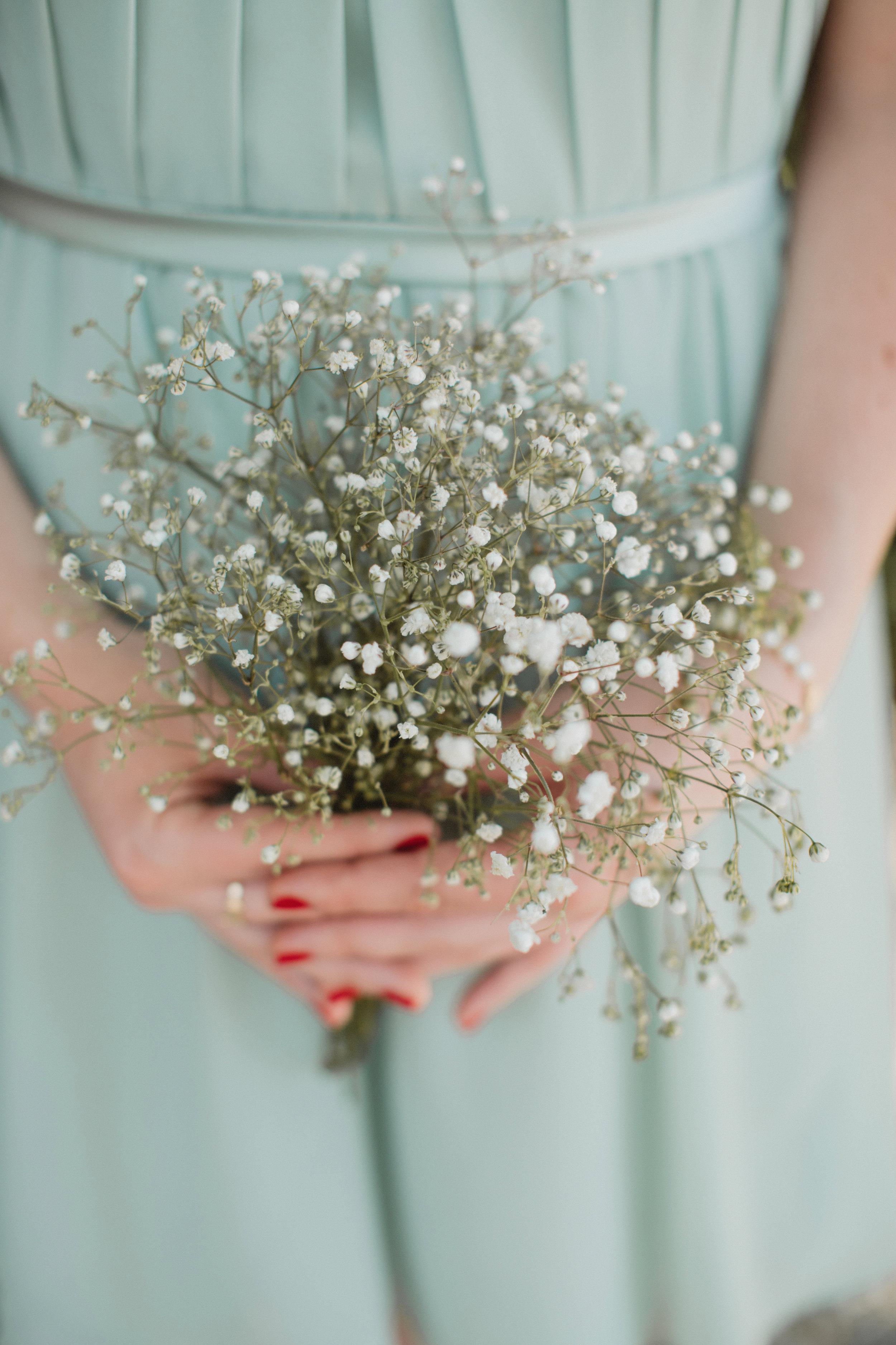 Baby's breath bouquet at Charleston, south Carolina wedding