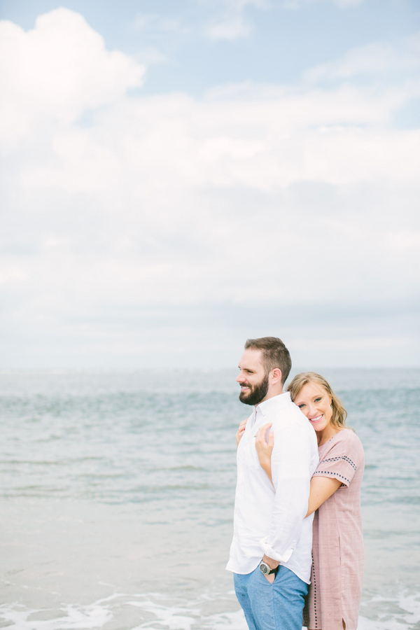 Robin + Brendan's Beach engagement in Charleston, SC by Taylor Rae Photography