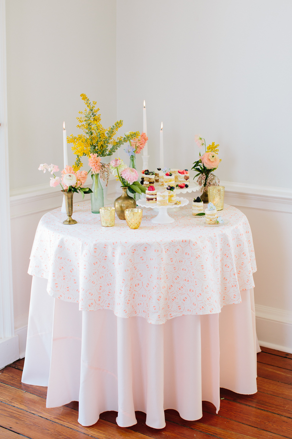 Gadsden House Wedding Inspiration with Lulie Wallace Linens by Riverland Studios