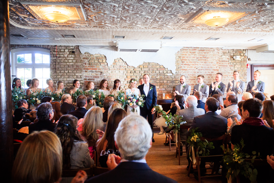 Wedding Ceremony at The Historic Rice MIll Building by Diana Deaver Photography