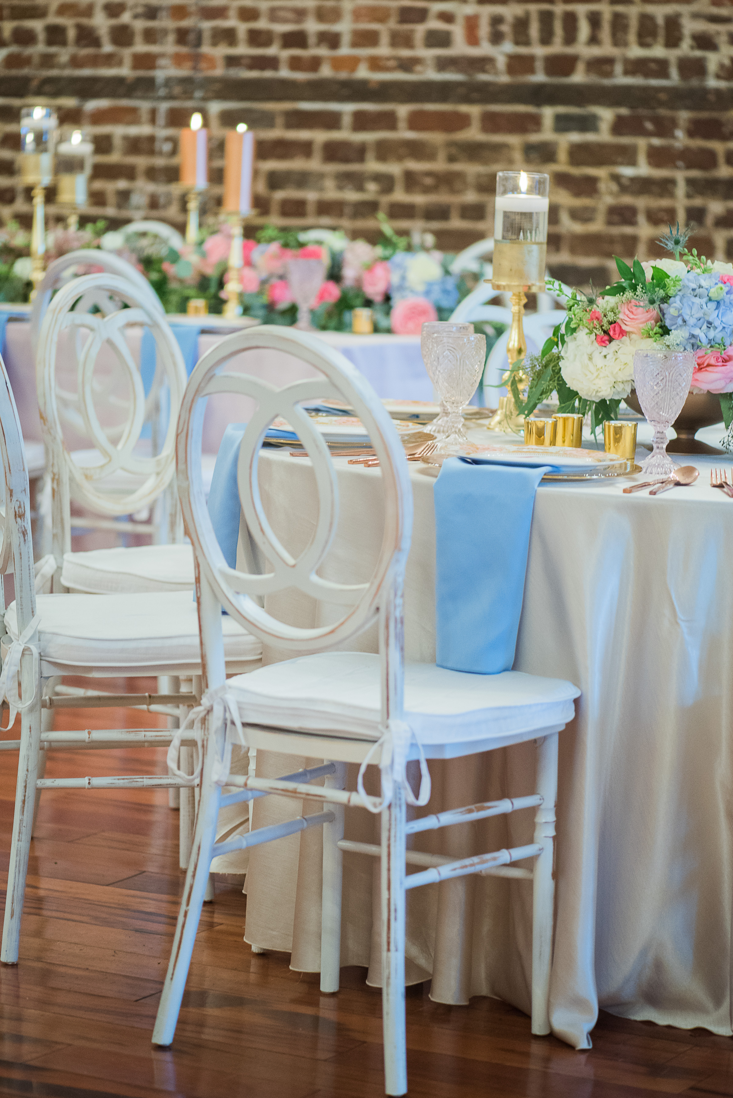 Rose Quartz + Serenity wedding inspiration at Marion's in the French Quarter